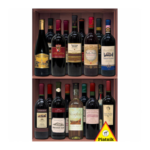 Piatnik Wine Bottles Jigsaw Puzzle: 1000 Pcs