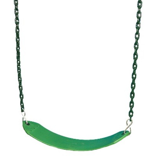 Deluxe Swing Belt with Coated Chain - Green