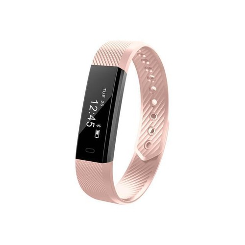 ID115 Smart Bracelet Fitness Tracker Step Counter Activity Monitor Band Alarm Bluetooth Wristband for iOS Android - Pink