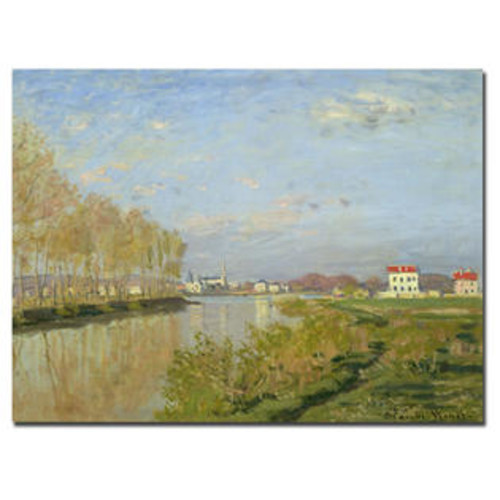 Trademark Global The Seine at Argenteuil, 1873 by Claude Monet Painting Print on Canvas Size: 18