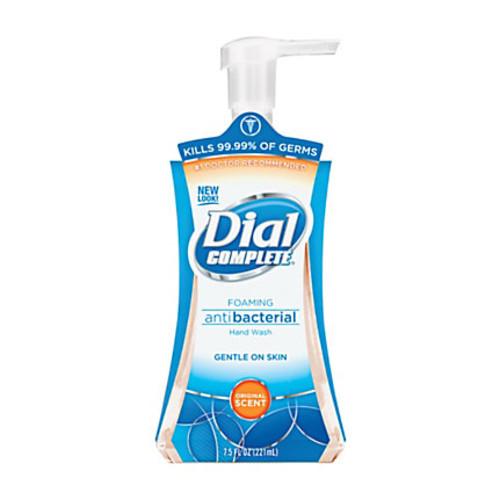 Dial Complete Foaming Hand Wash - 7.5 fl oz (221.8 mL) - Pump Bottle Dispenser - Kill Germs - Hand - Amber - Hypoallergenic - 8 / Carton