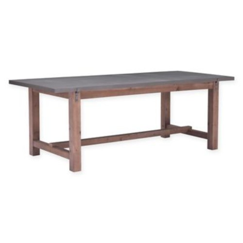 Zuo Greenpoint Wood and Metal Dining Table in Grey
