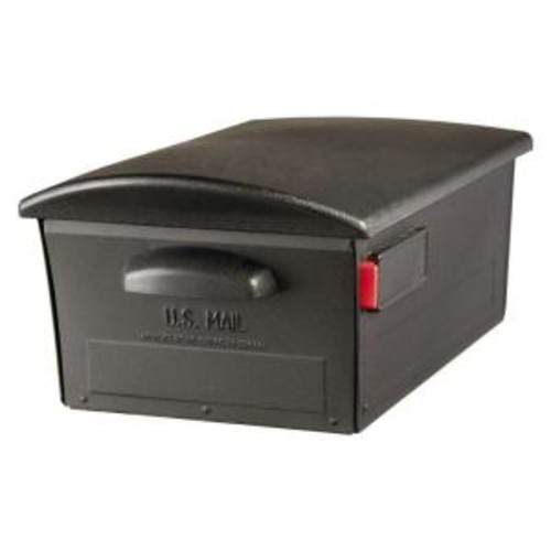 Gibraltar Mailboxes Large Lockable Post-Mount Mailbox, Black