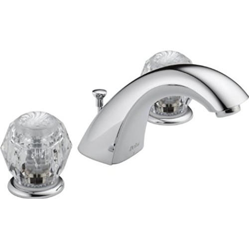 Delta 3544LF-WFMPU Classic Two Handle Widespread Bathroom Faucet, Chrome