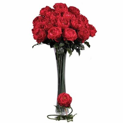 Nearly Natural 31'' Large Rose Stem in Red (Set of 12)