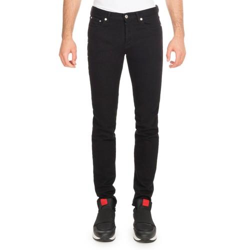 Star-Side Denim Skinny Jeans, Black