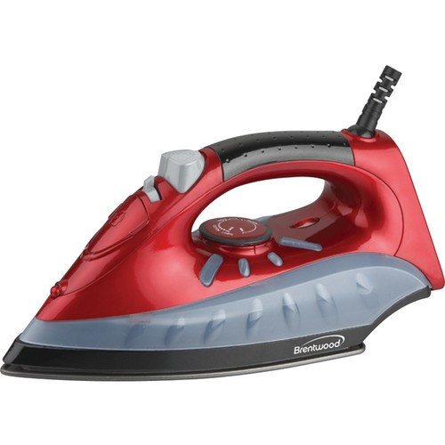 Brentwood Appliances MPI-61 Non-Stick Steam/Dry, Spray Iron (Red)