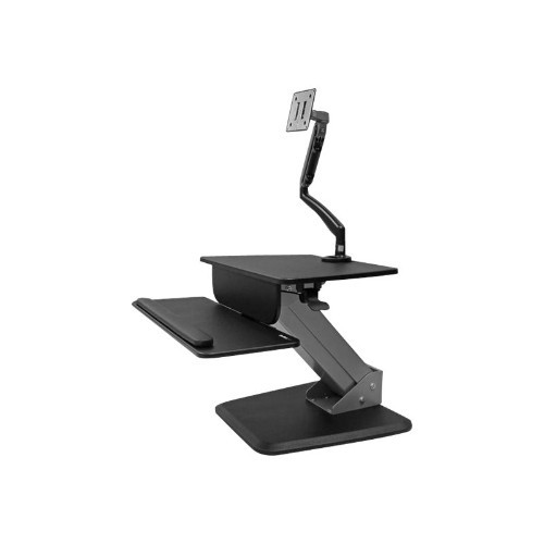 StarTech.com Sit-to-stand Workstation with Full-Motion Articulating Monitor Arm - One-Touch Height Adjustment (BNDSTSSLIM)