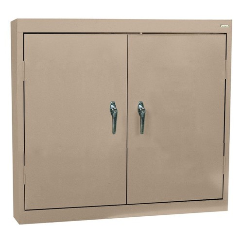 Sandusky Lee Welded Steel Wall Cabinet  Solid Doors, 36in.W x 12in.D x 30in.H, Sand, Model# WA22361230-04