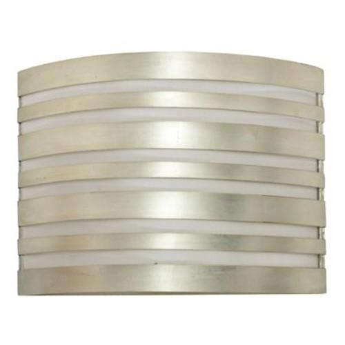 WorldsAway Striped 2-Light Flush Mount; Silver