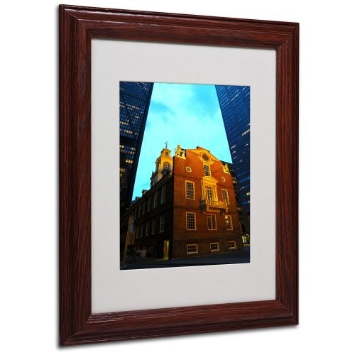 Boston Canvas Wall Art by CATeyes, Wood Frame, 11 by 14-Inch
