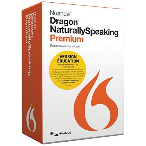 Dragon NaturallySpeaking Premium Student & Teacher Edition - (v. 13) - box pack - 1 user - academic, online validation - DVD - Win - French