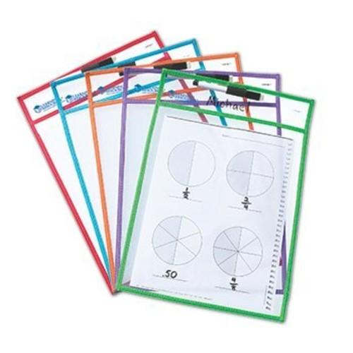 8 Pack LEARNING RESOURCES WRITE & WIPE POCKETS