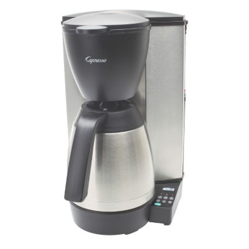 Capresso 485.05 MT600 Plus 10-Cup Programmable Coffee Maker with Thermal Carafe [Black]