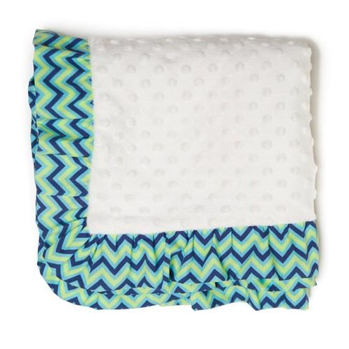 Pam Grace Creations Zig Zag Elephant Chenille Baby Blanket