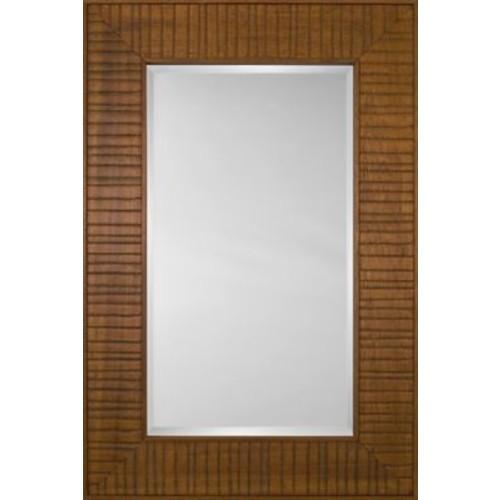 Mirror Image Home Mirror Style 80970 - Honey Wood Bridge; 48.75 x 68.75