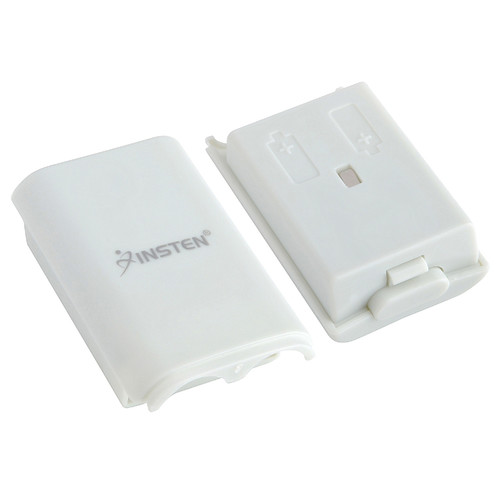 Insten Wireless Controller Battery Pack Shell For Microsoft Xbox 360, White