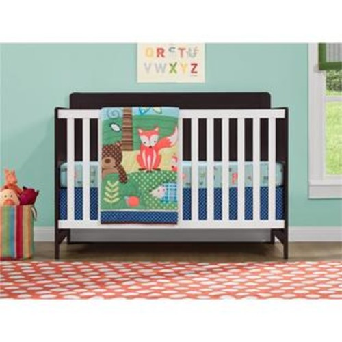 Ameriwood Home Willow Lake Crib in Espresso and White
