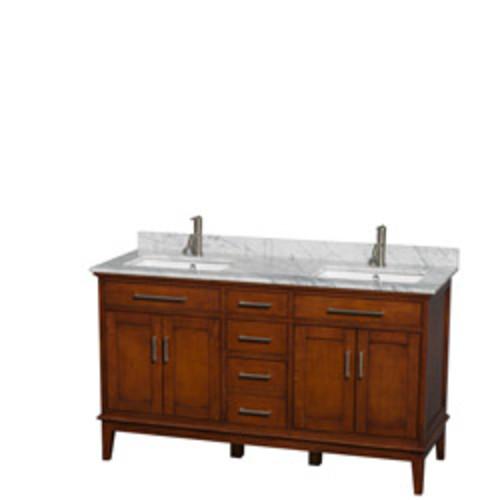 Hatton Collection 60 in Double Bathroom Vanity in Light Chestnut [WCV161660DCLCMUNSMXX]
