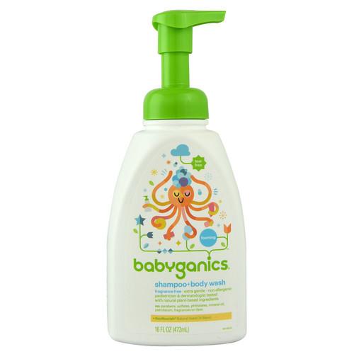 Babyganics Shampoo plus Bodywash Fragrance Free -- 16 fl oz