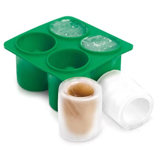 Freshware 4-Cavity Round Silicone Mold Ice Shot Glass Maker