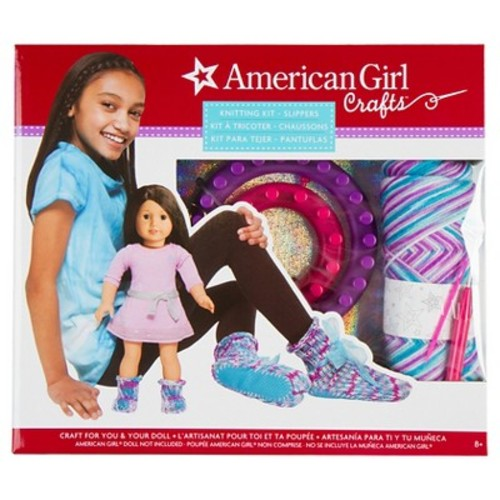 American Girl Knit Slippers Kit by Fashion Angels