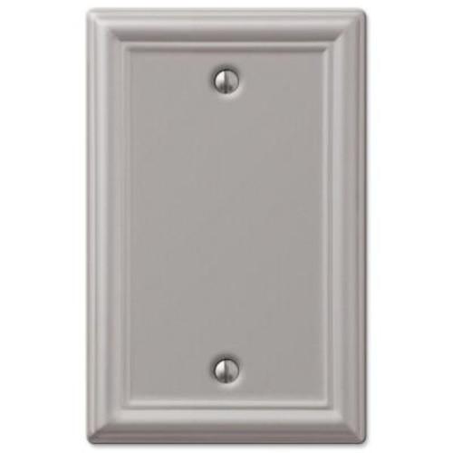 Hampton Bay Chelsea 1 Blank Wall Plate - Brushed Nickel