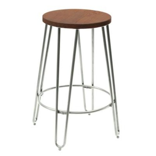 Ace Casual Furniture 23.82 in. Chrome Bar Stool