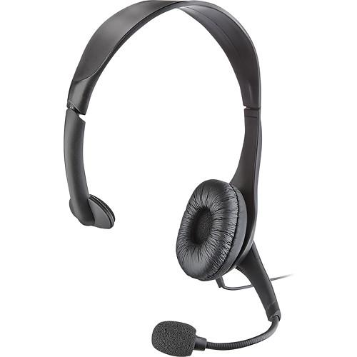 Insignia - On-Ear Analog Mono Headset - Black