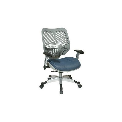 Office Star Products SPACE REVV Series - Self Adjusting Ice SpaceFlex Back Chair and Shadow Mesh Seat
