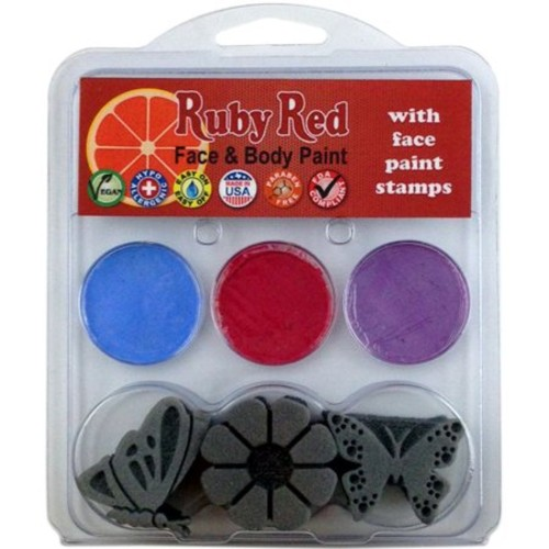 Ruby Red Face Painting Stamp Kit-Butterfly