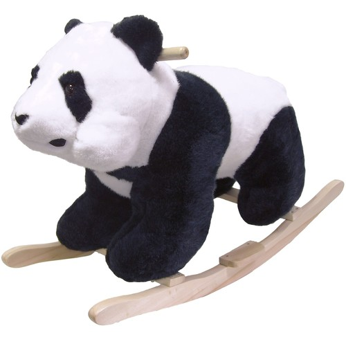 Happy Trails Plush Children's Rocking Panda Bear