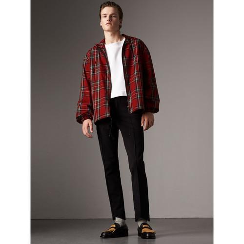 Tartan Cotton Hooded Jacket
