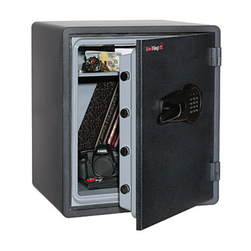FireKing KY1915-1GREL Fire-Resistant Safe, 2.14 Cu. Ft., Graphite