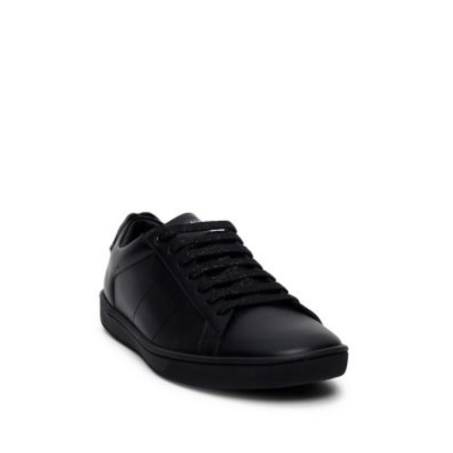 SAINT LAURENT Court Classic Leather Lip Sneakers