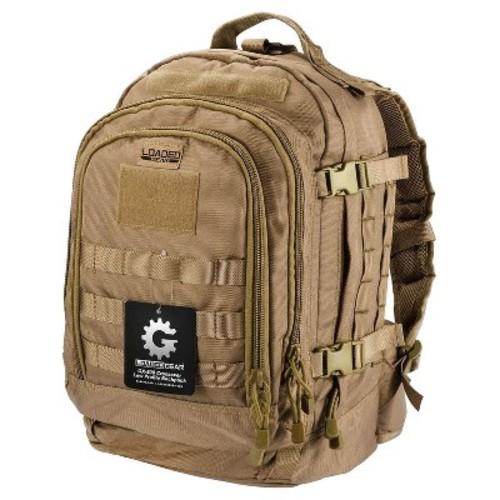 BARSKA Loaded Gear GX-500 Medium Flat 17.72 in. Dark Earth Ballistic Nylon Crossover Backpack