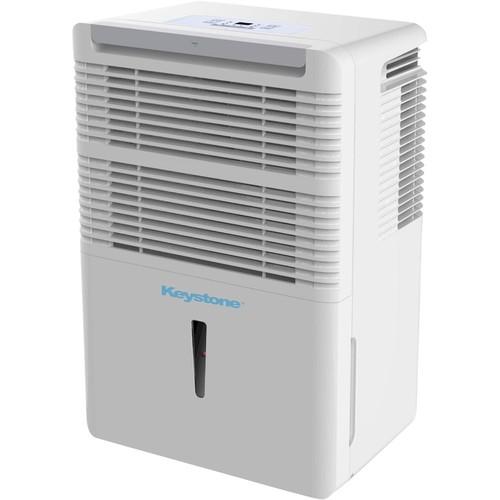 Keystone - 70-Pint Portable Dehumidifier - White