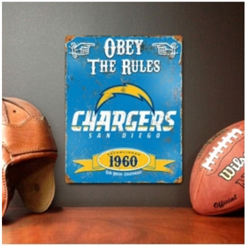 Party Animal San Diego Chargers Embossed Metal Sign