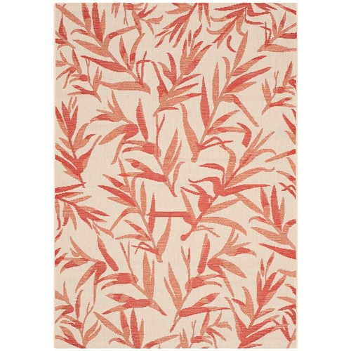 Safavieh Courtyard Beige/Terracotta 4 ft. x 6 ft. Indoor/Outdoor Area Rug