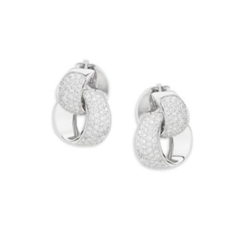 Chimento - Link Infinity Diamond & 18K White Gold Earrings