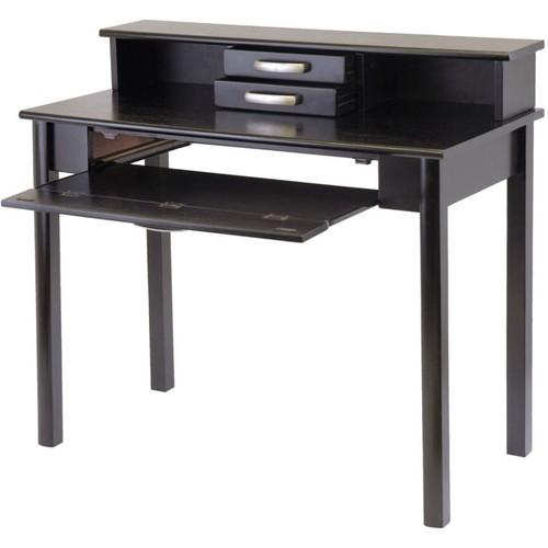 Winsome Composite Wood Liso Home Office Set, Dark Espresso, 2 Pieces