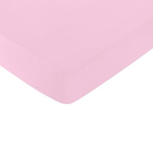 Sweet JoJo Designs Fitted Crib Sheet Pink