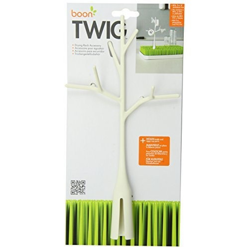 Boon Twig Grass and Lawn Drying Rack Accessory, White,Twig White [Twig White]