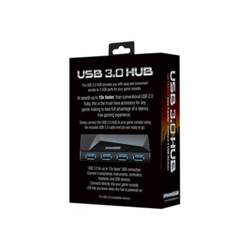 dreamGEAR DGUN-2598 - Hub - 4 x SuperSpeed USB 3.0 - desktop