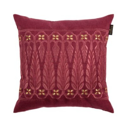 Bombay Point de Lac Square Throw Pillow in Plum