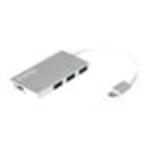 Plugable USBC-HUB3P USB-C 3-Port Hub with Pass-Through Charging