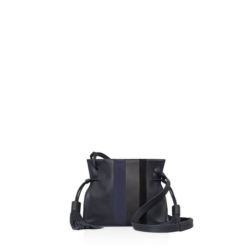 Casey Tassel Leather Bucket Bag