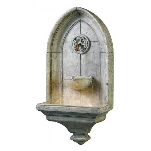 Kenroy Home #53265CT Canterbury Indoor/Outdoor Wall Fountain in Cement Finish [copper]
