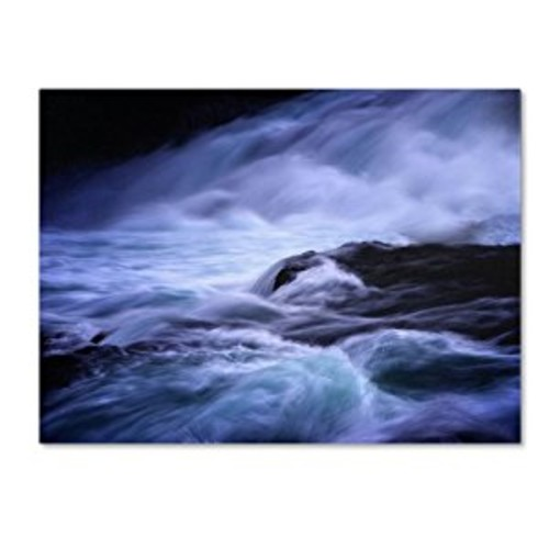 Blue Stream by Philippe Sainte-Laudy, 14 by 19-Inch Canvas Wall Art [14 by 19-Inch]