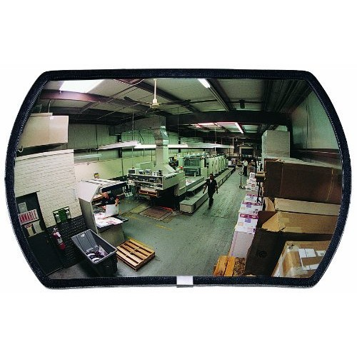 See All RR1524 Round Rectangular Glass Indoor Convex Security Mirror, 24